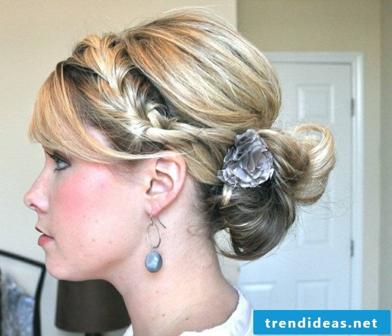 original hairstyle with hair accessories