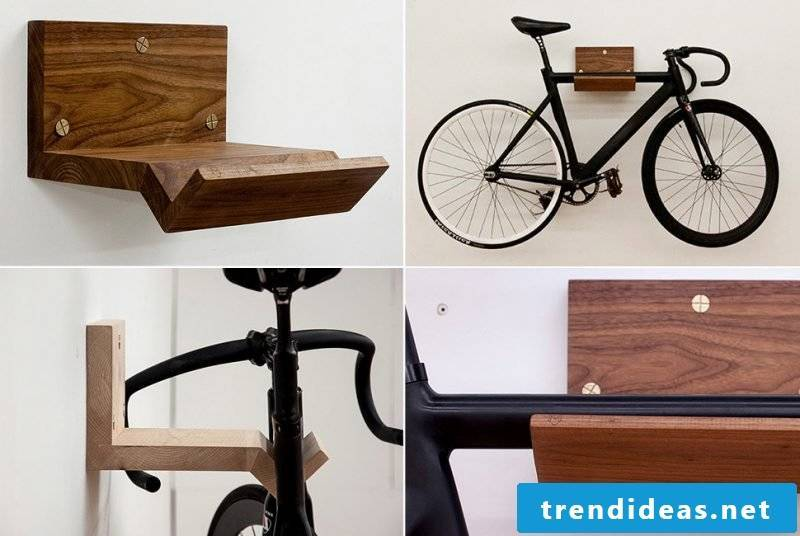 Bicycle holder for wall DIY wood