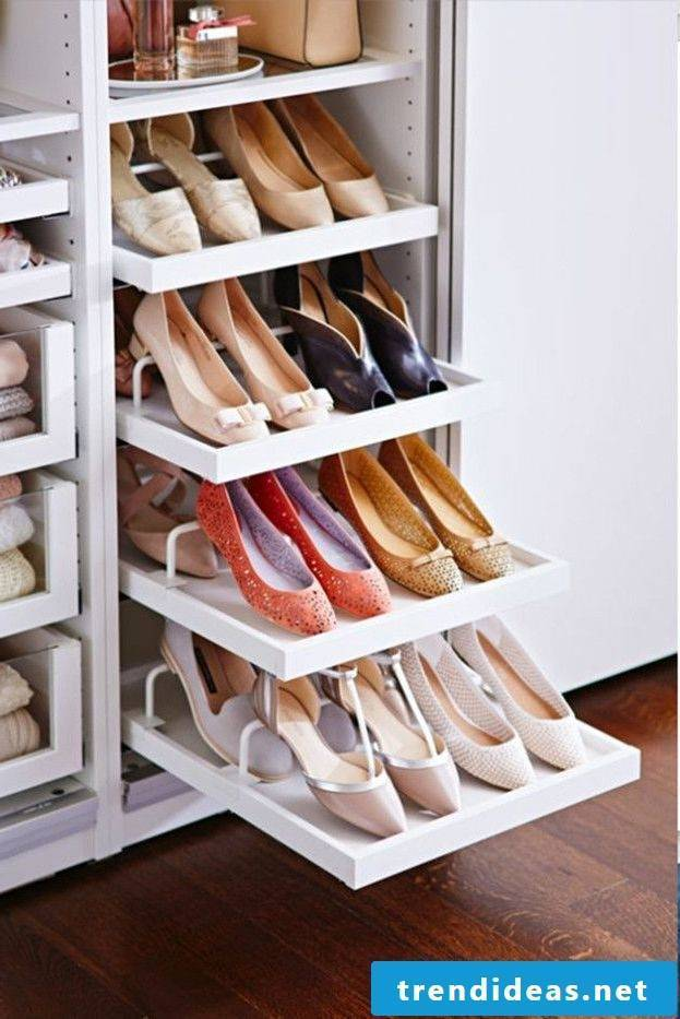 Ikea wardrobe: more space for the shoes