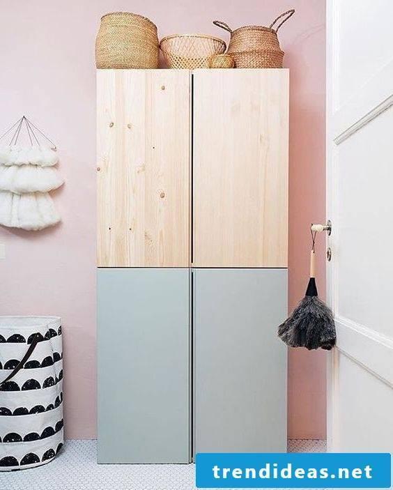 Ikea wardrobe in Scandinavian style