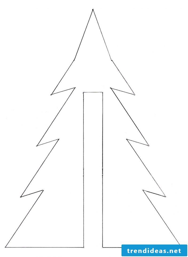 Christmas motives for printing template Christmas tree