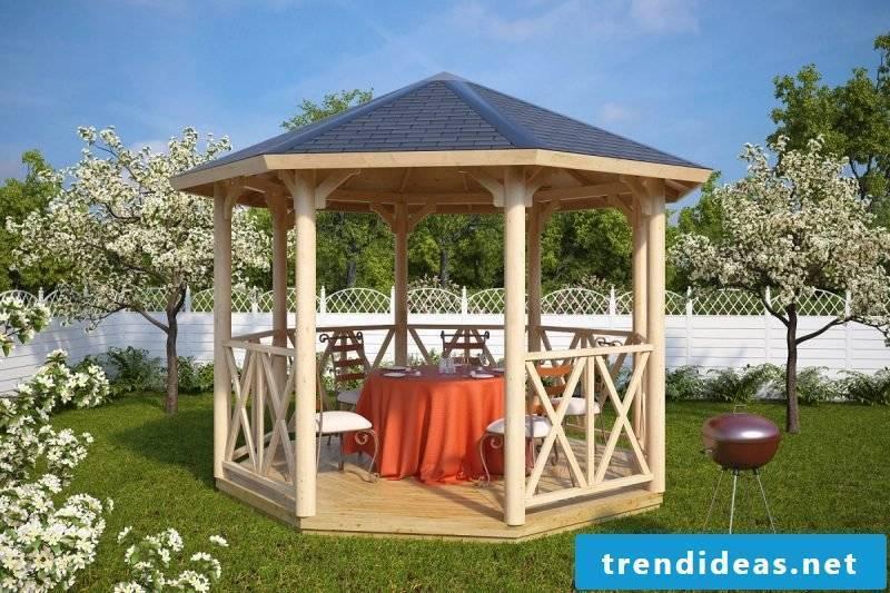 Pavilion itself build simple