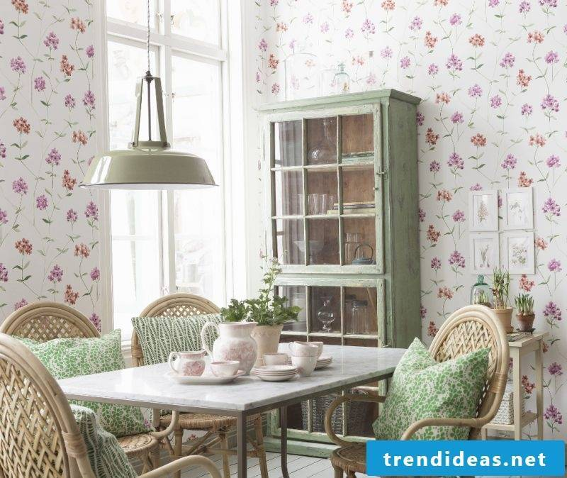 green country house decoration