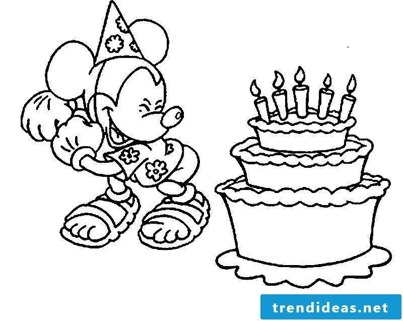 Birthday cake pictures Mickey Mouse