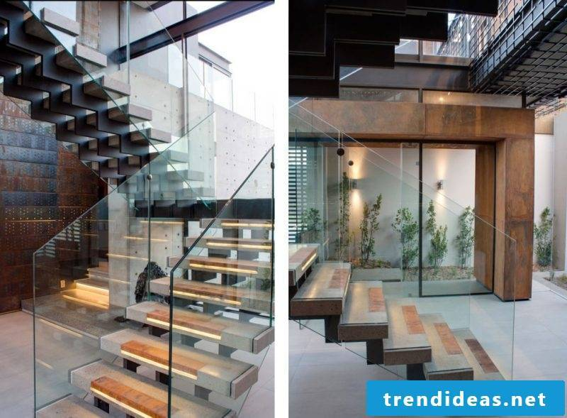 Bolts staircase with LED lighting