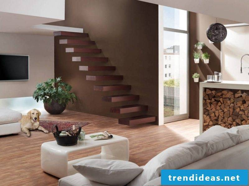 Bolt stairs without railings look even more elegant