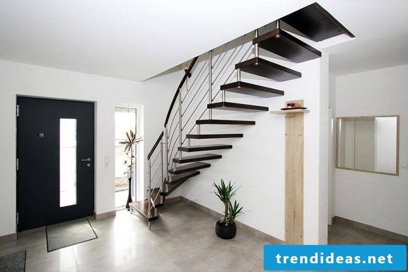 Bolts stairs are a real eye-catcher in the design