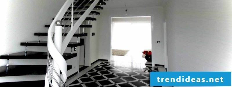 Bolts staircase in a black and white design
