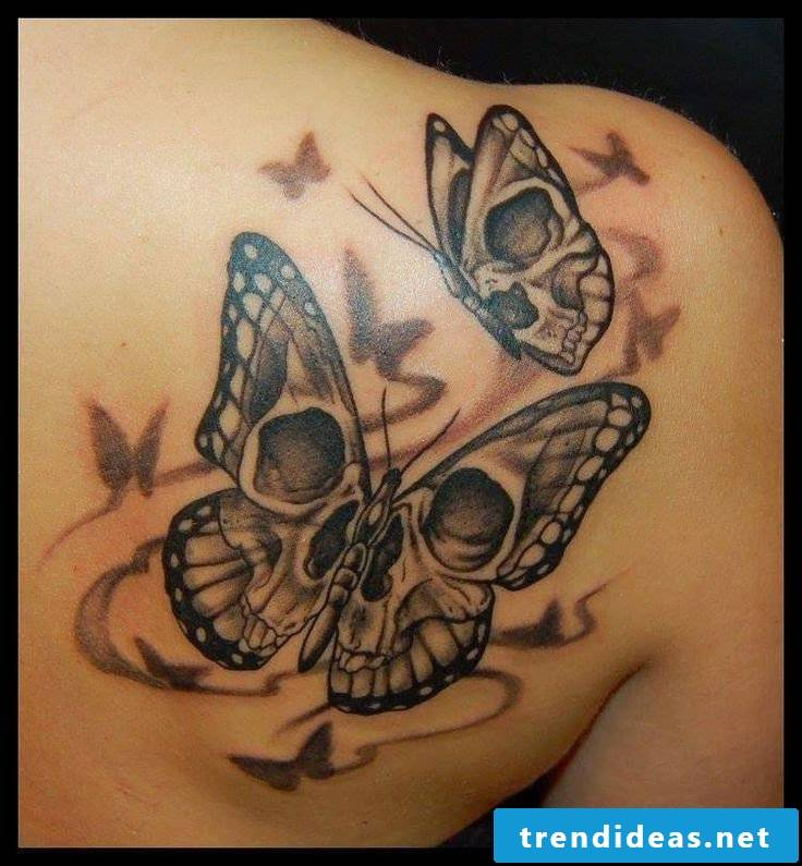 Black butterfly meaning - skull