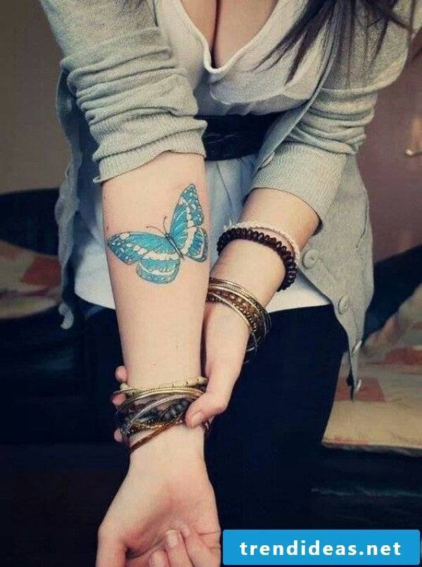 How is the butterfly tattoo tattooed?