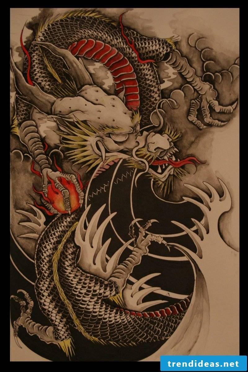 Snakes Tattoo 3D Design Template