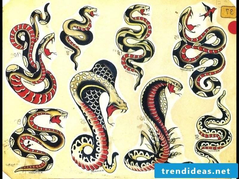 Snakes tattoo templates