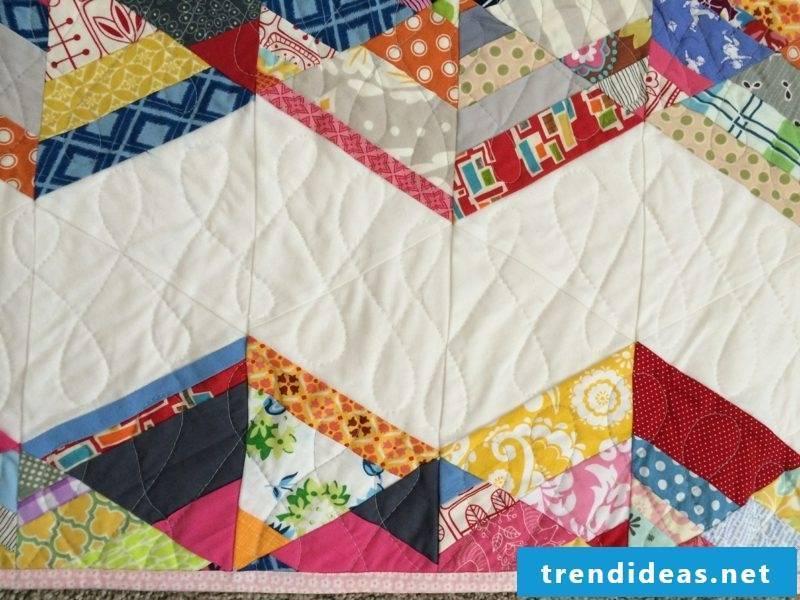 Patchwork blanket guide squares