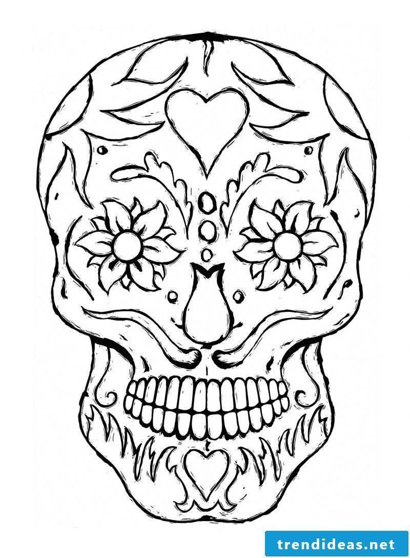 Skull coloring pictures for free