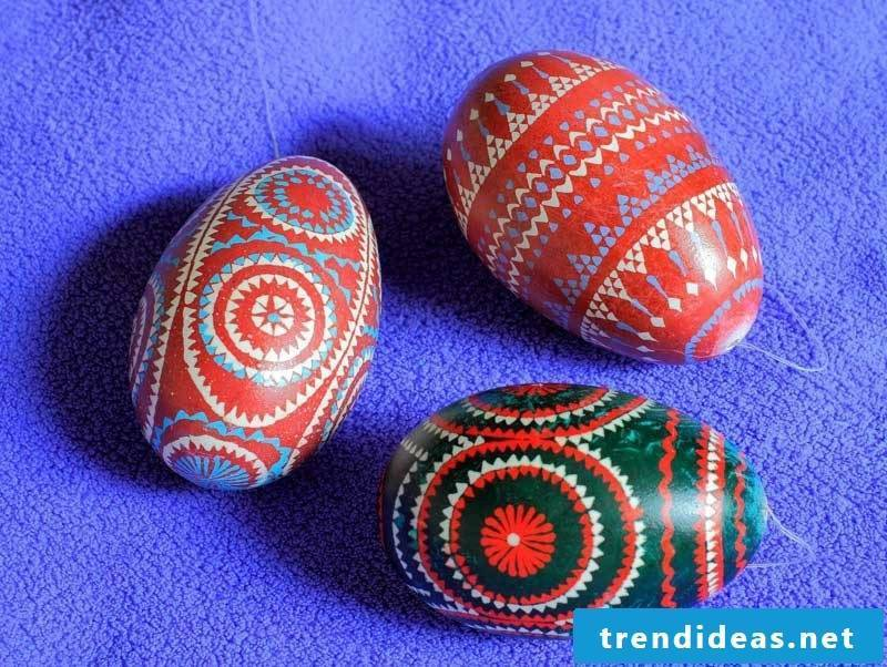 Sorbian easter eggs design ideas and painting techniques