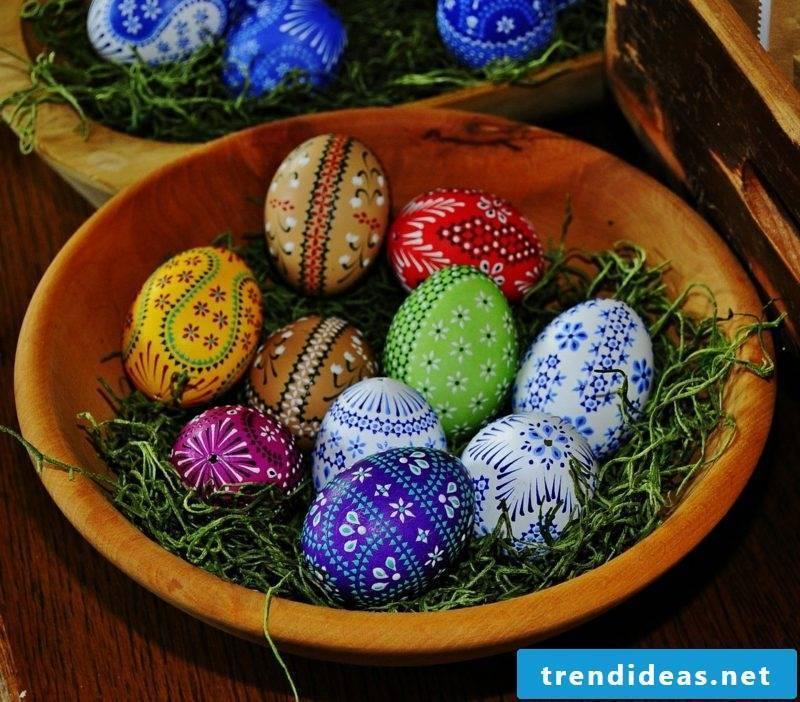 Originally designed Sorbian Easter eggs