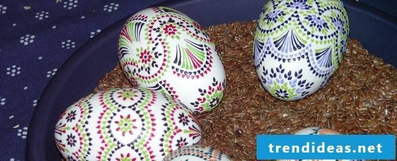Sorbian easter eggs creative DIY ideas bossing technique