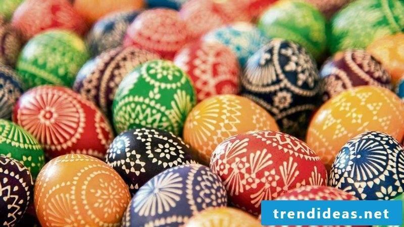 Sorbian easter eggs gorgeous look