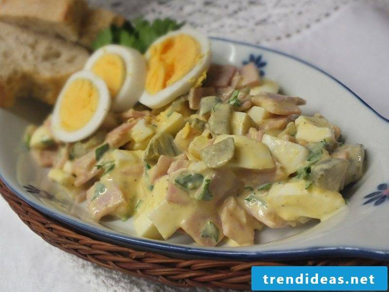 Egg salad with scing the best recipe