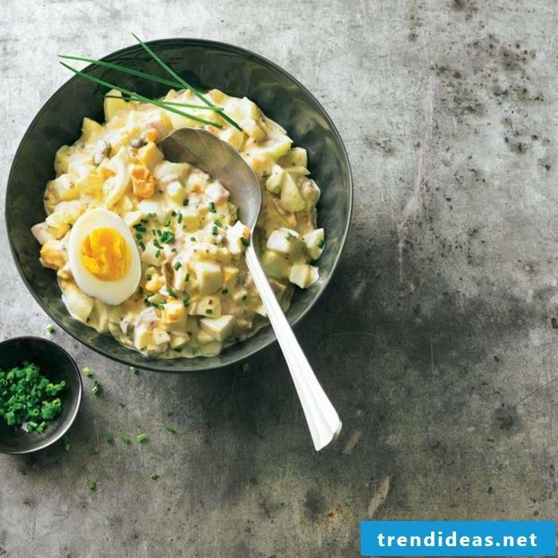 tasty egg salad with ham recipe