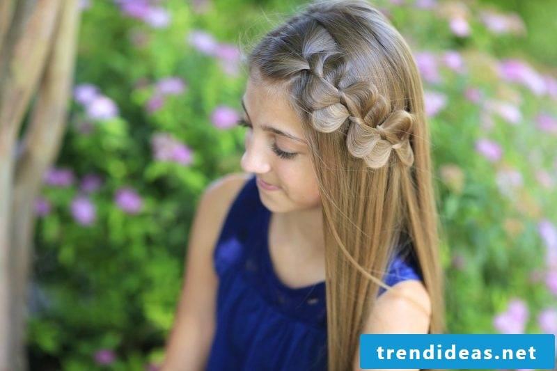 Communion hairstyles girl