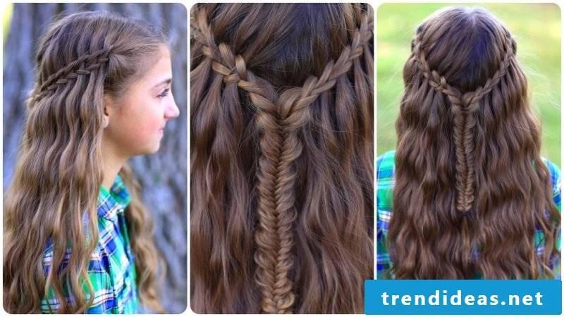 Communion hairstyles waterfall