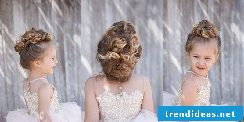 Communion hairstyle updo