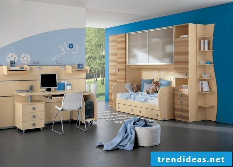 blue boy's room