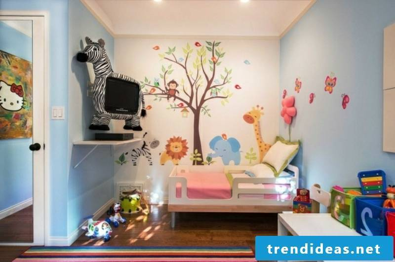 Nursery design wall painting