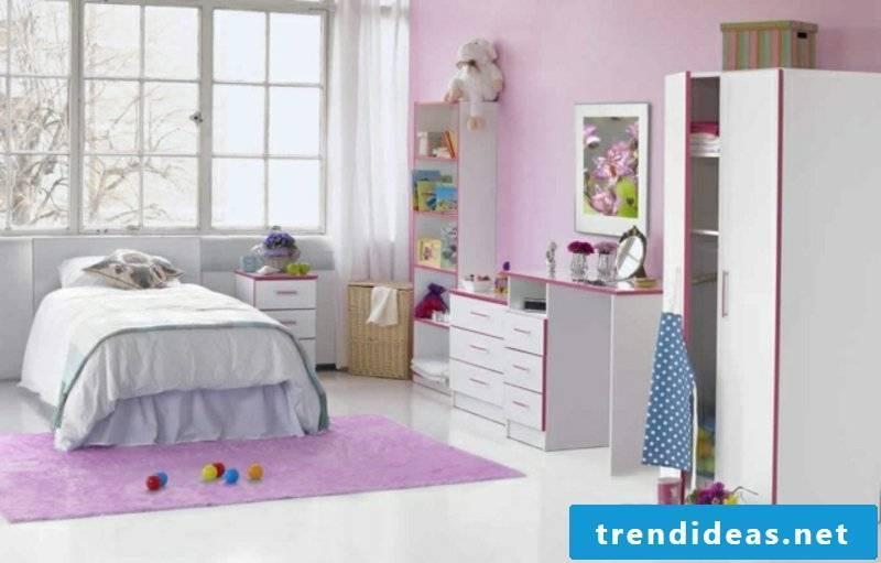 Girl's room in purple