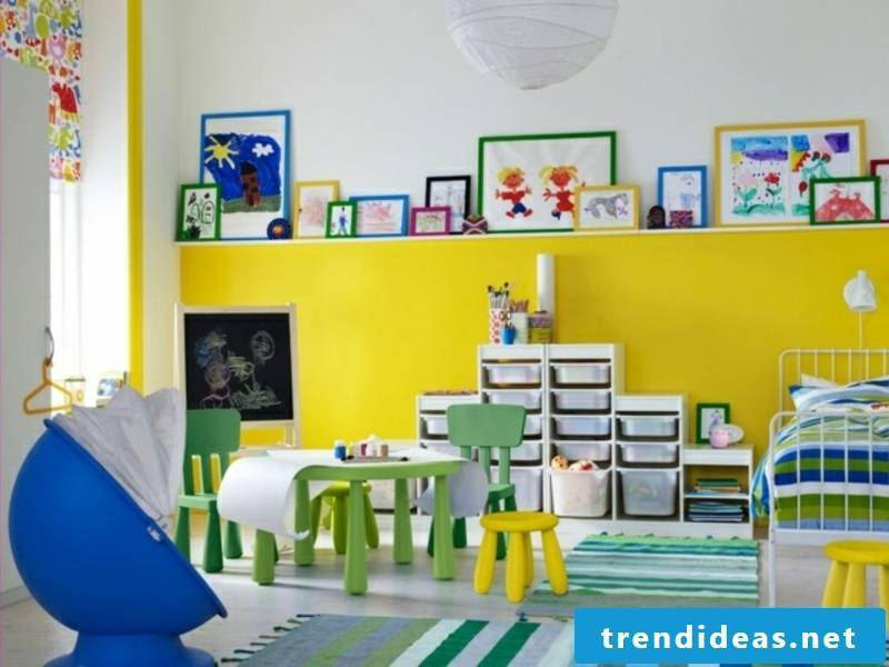 Nursery in yellow and blue
