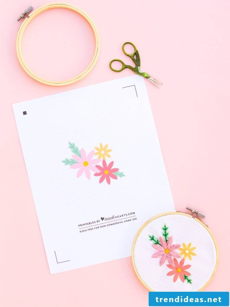 Embroidery: Make a loving mother gift