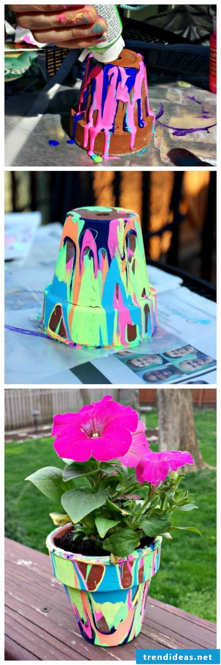 Make Mother's Day gifts: make a flower pot yourself