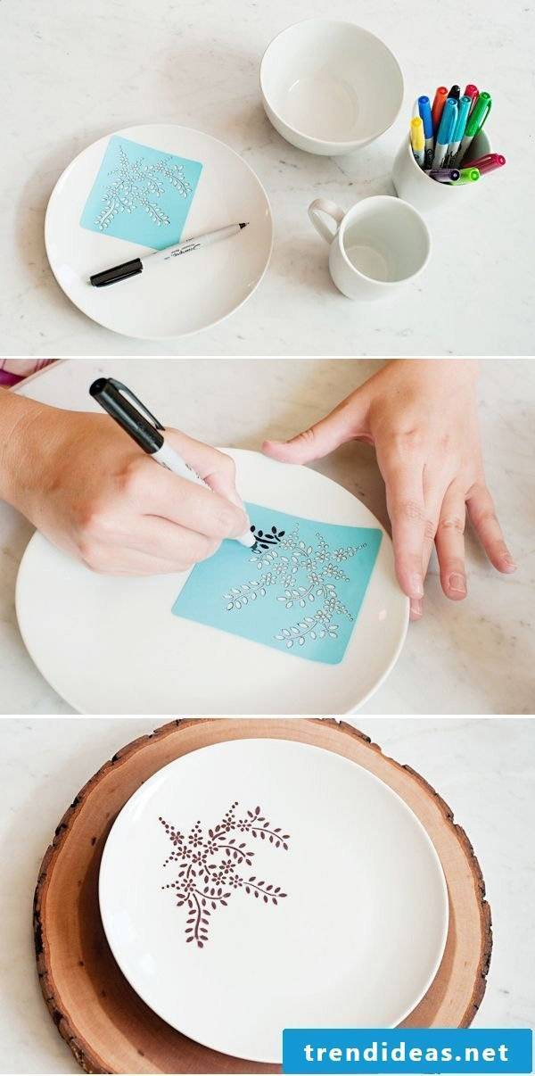 Make Mother's Day presents yourself: paint dishes and cups