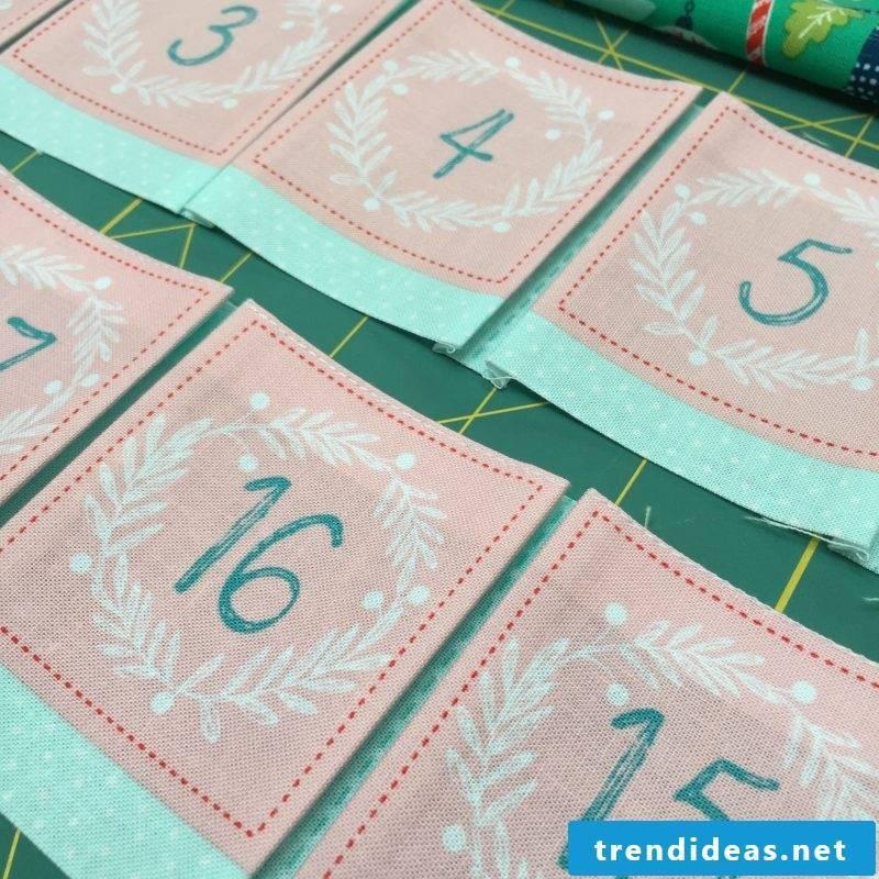 Sew Advent Calendar - Instructions Step 4