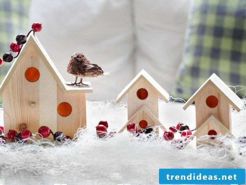 Craft ideas birdhouse made of wood