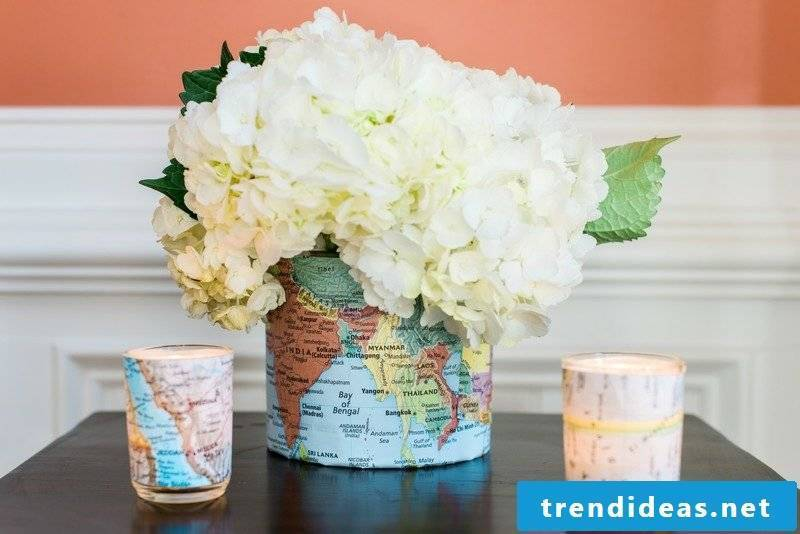 Decorate craft ideas with paper vase