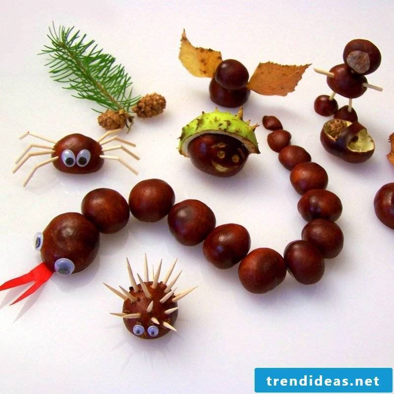 Craft ideas with chestnuts