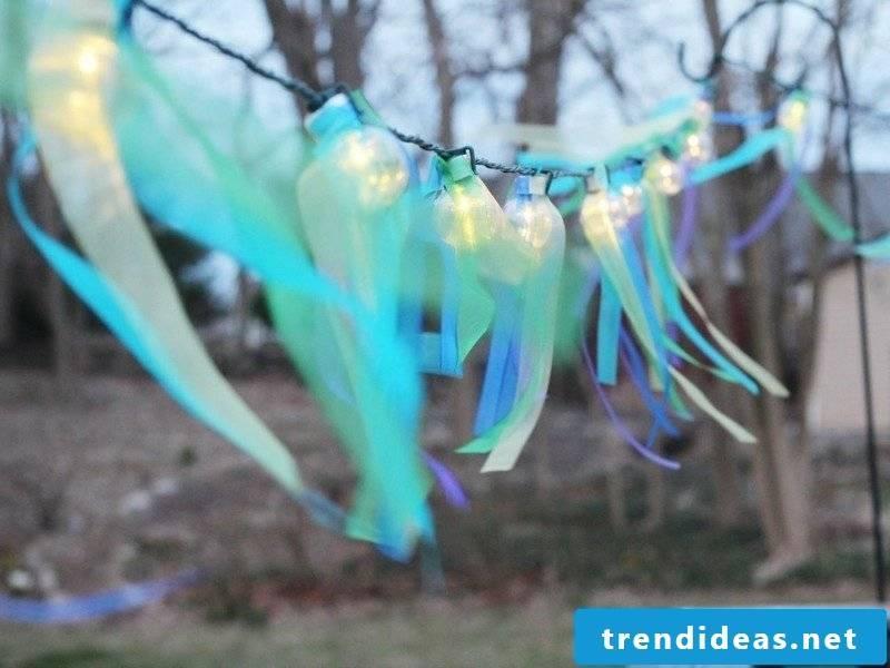 DIY ideas make romantic fairy lights themselves