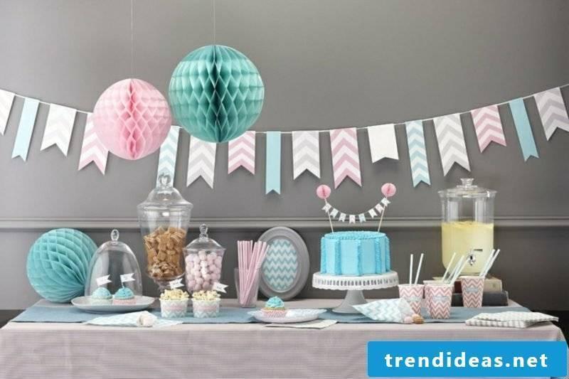 Make crafting ideas Partydeko yourself