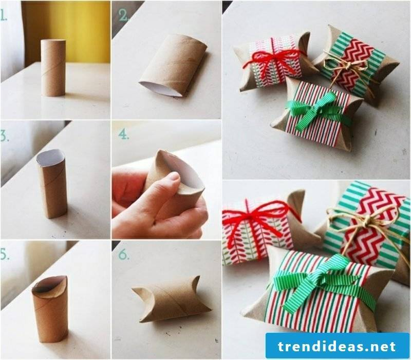 Make gifts and pack imaginatively