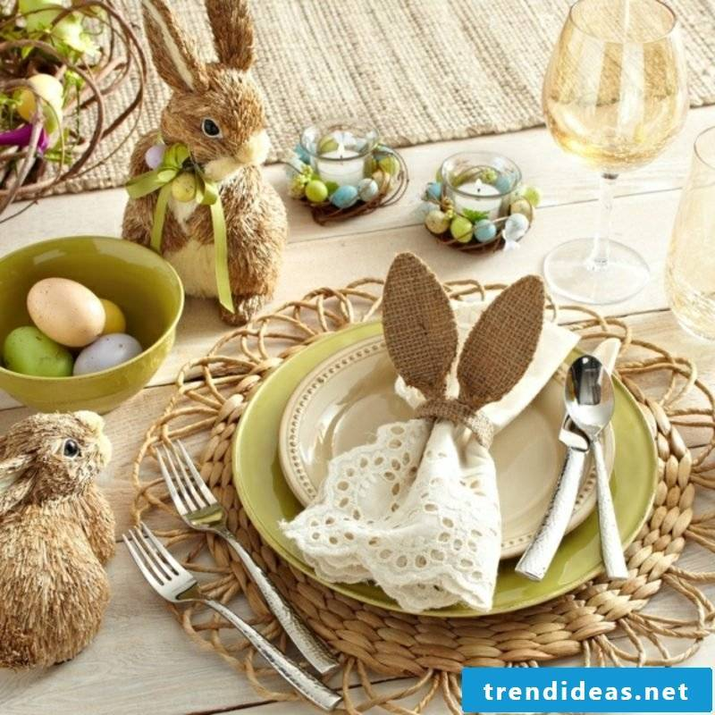 Crafting tips table decoration Easter