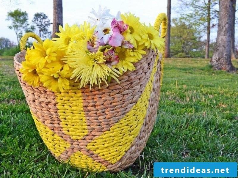 Crafting ideas rattan basket paint