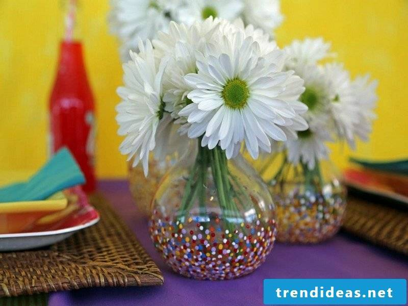 Crafting ideas for adults Decorate glass vase