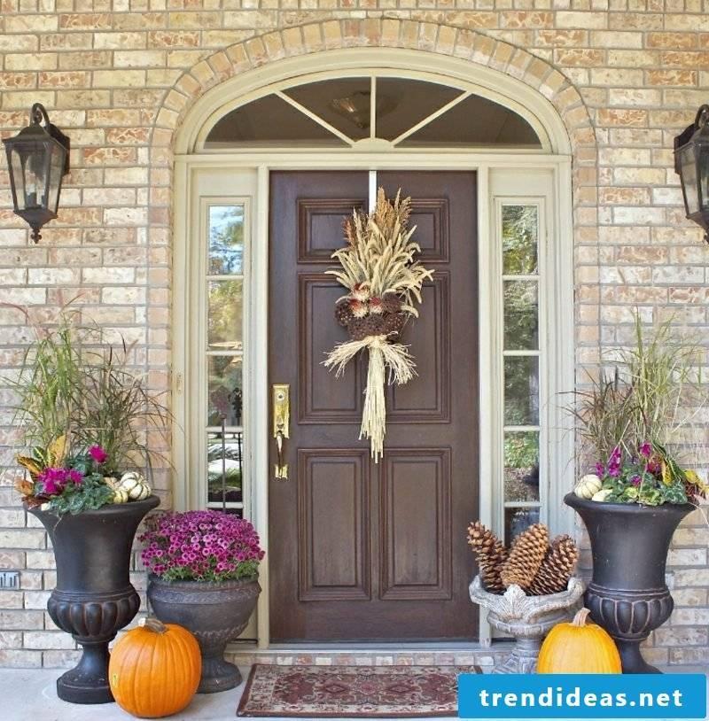 Autumn decoration modern entrance area