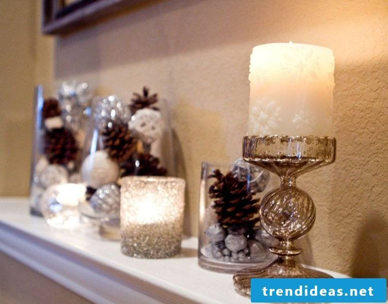 Crafts with pine cones decoration