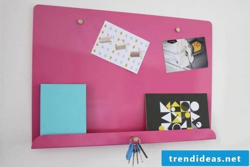 pin board itself make magnetic