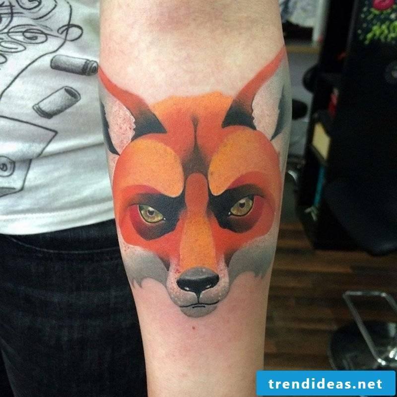 Waterfox fox tattoo