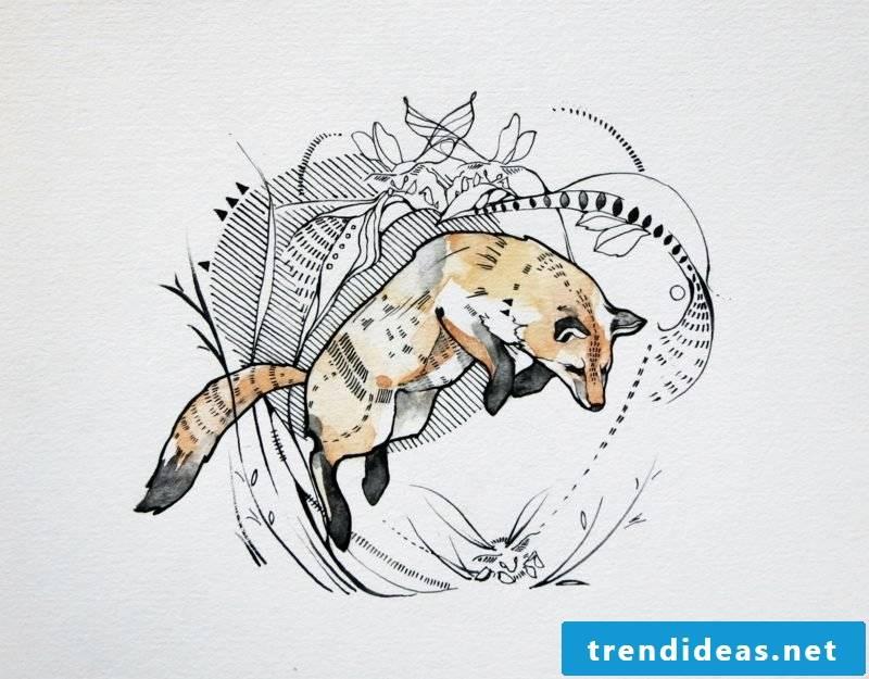 Fox tattoo jump