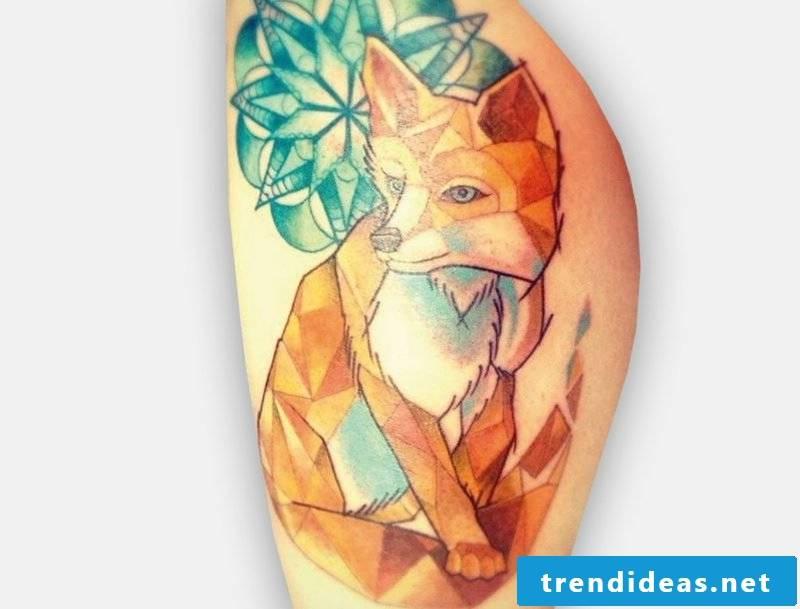 Fox tattoo geometry